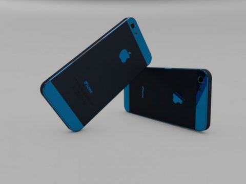 iPhone 5 Blue 3D model