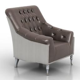 Armchair Mayfair Tufted R091-03 3d model