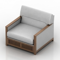 Armchair Zivella 3d model