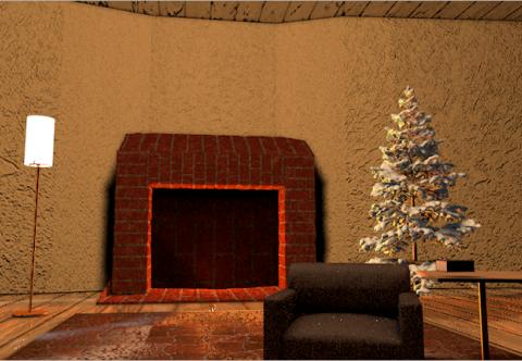 Christmas style Living room 3D model
