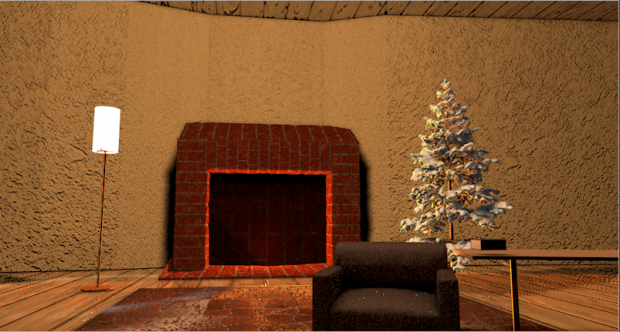 Christmas style Living room 3D model
