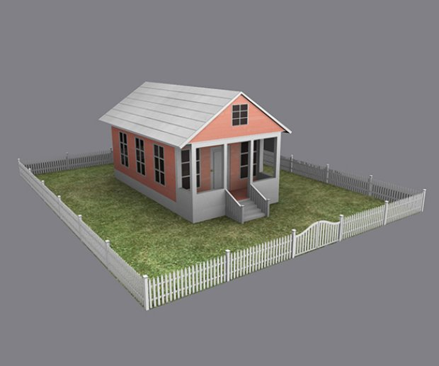 Cottage house for House designs 3d model