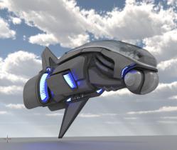 E 45 Aircraft 3D model