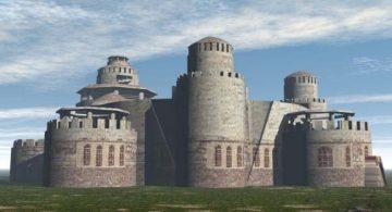Eastern Ancient Casttle 3D model