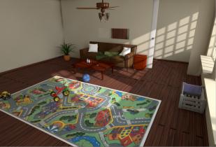 Full baby room scene 3D model