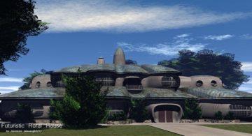 Futuristic Rural House 3D model