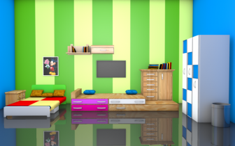 Kids Bedroom 3d Model bedroom 3d models free download | downloadfree3d