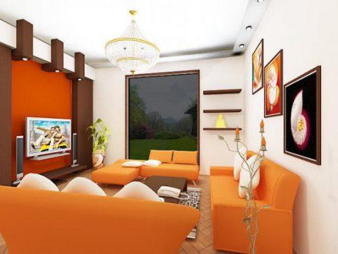 Living room interior home decoration furnishing 3D model