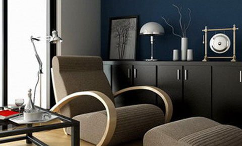 Modern Lounge Interior 3D model