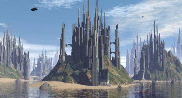Sci-fi Tropical City 3D model