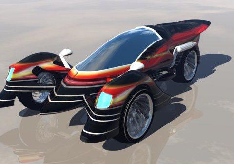 Scorpion TRC-26 Tricycle 3D model