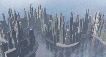 Serpertine city 3D model