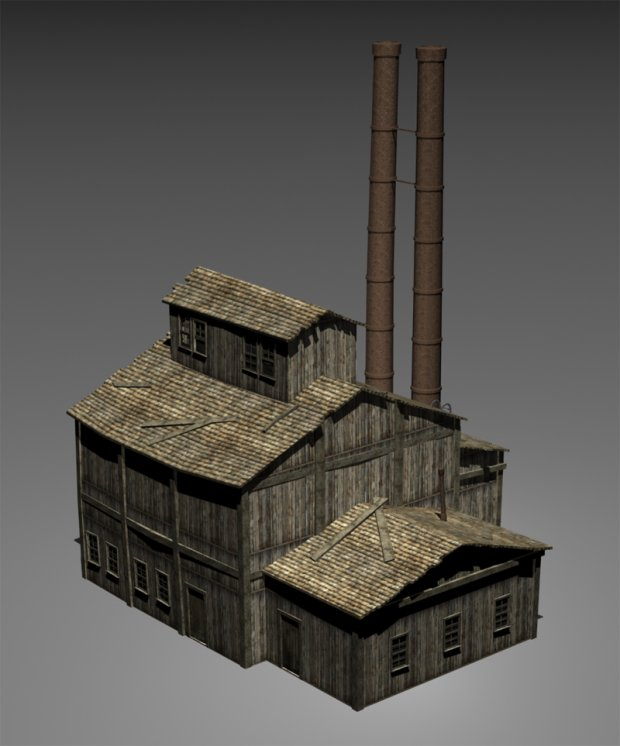 Small Factory Free 3d Models