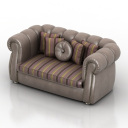 Sofa Ravasi Salotti Grace 3d model