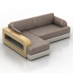 Sofa Senso Mobel&Zeit 3d model download