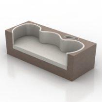 Sofa from Karim Rashid 3d model