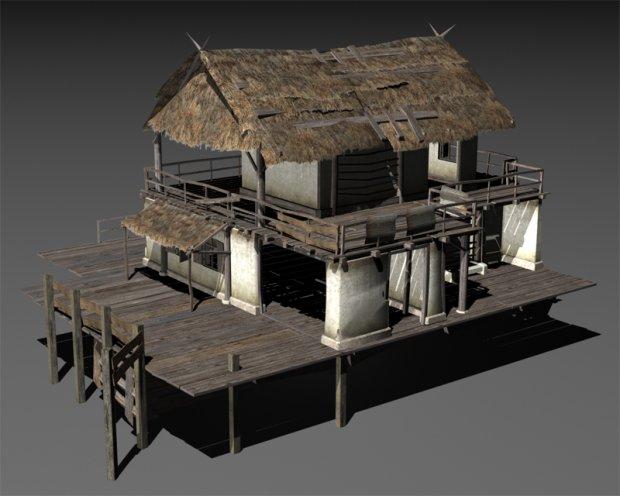 Swamp house House 3d model