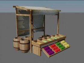 Trade Tent 3D model