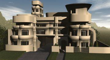 Utopian Sci-Fi House 3D model
