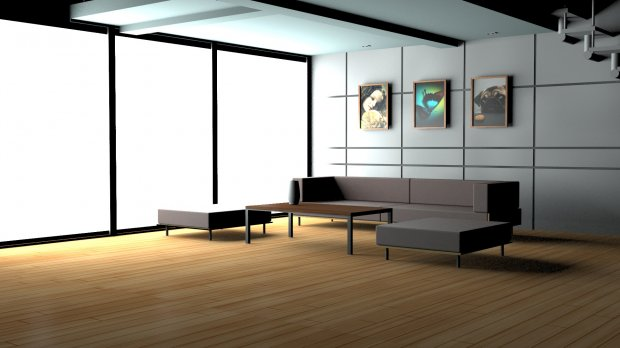 House interior for Free 3d house models