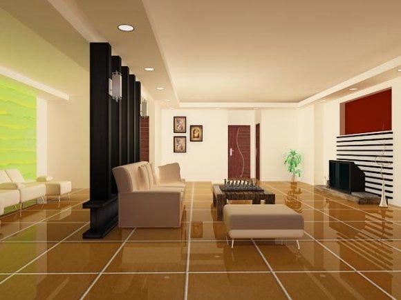 House model interior furniture scene 3D model