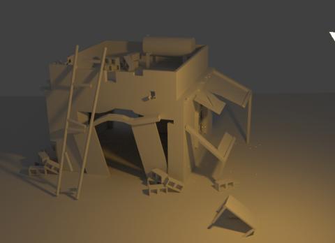 Kurdish house 3D model