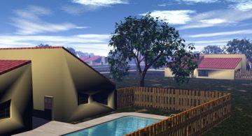 Modern house complex 3D model