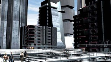 Scifi downtow scenery 3D model