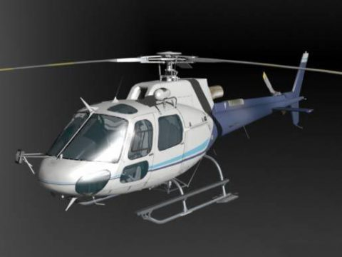 AS350B Helicopter 3D model