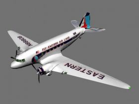 Airplane DC3 3D model