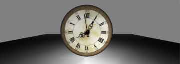 3D Ancient Wooden Wall Clock model
