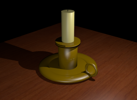 Antique Candlestick 3D model