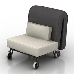Armchair IKEA PS MURBO 3d model