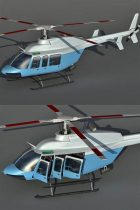 Bell 407 Helicopter 3D model