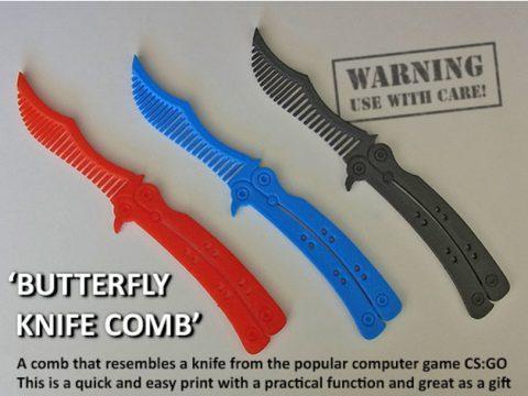 Butterfly Knife Comb 3D model