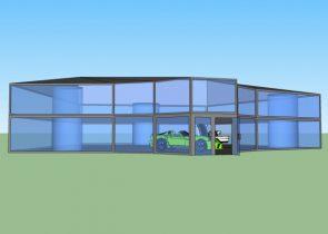Car Show Room 3D model
