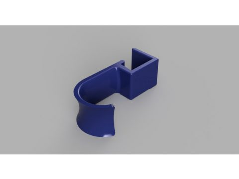 3D Cubicle Shelf Edge Headset Hanger model