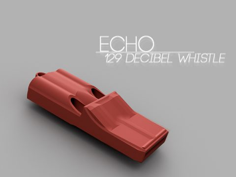 Echo 3 tone whistle 3D model