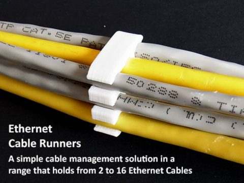 Ethernet Cable Runners 3D model
