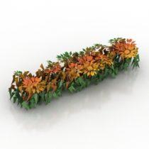 Flowers window 3d model