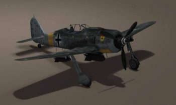 German WW 2 FW 190 Airplane 3D model