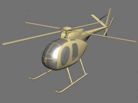 Hughes 500 3D model