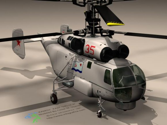 K27 Helicopter 3D model