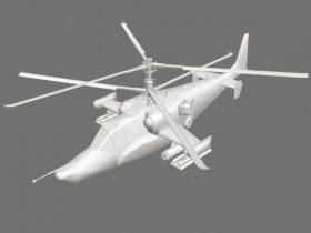 KA-50 unfinished 3D model