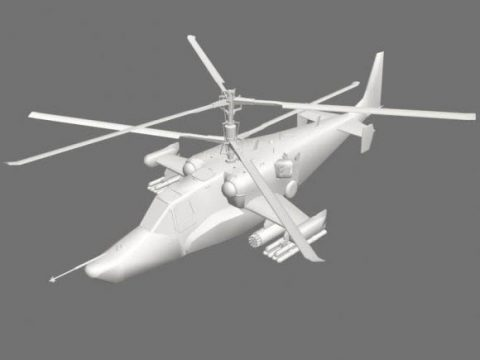 KA-50 unfinished 3D model
