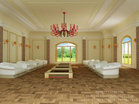 Living room interior 3D model