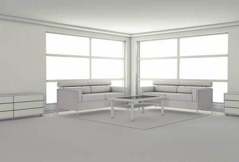 Living space 3D model