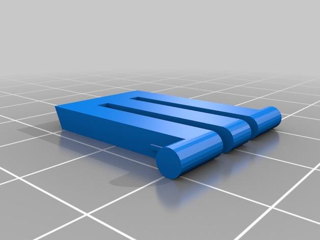 3D Logitech Keyboard Feet model