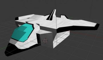 Low poly Space Ship 3D model