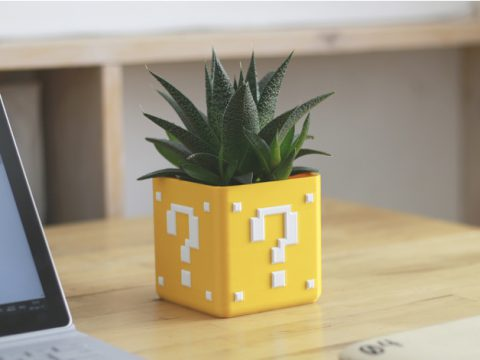 Mario Bros Planter - Single/Dual Extrusion Minimal Planter 3D model